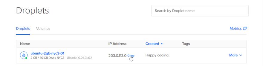 Copy address