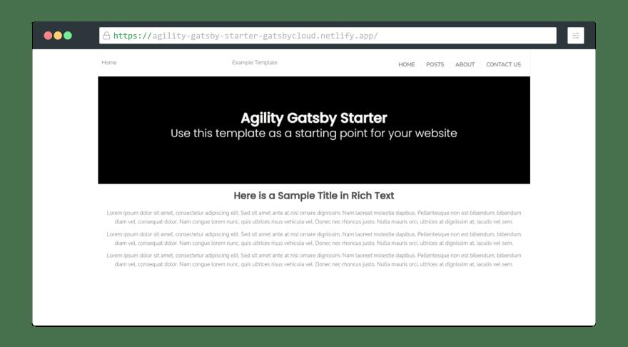 Agility Gatsby Starter