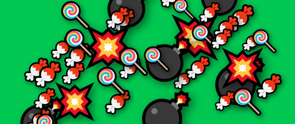 Cover image for #CodepenChallenge Exploding Bombs and Candies