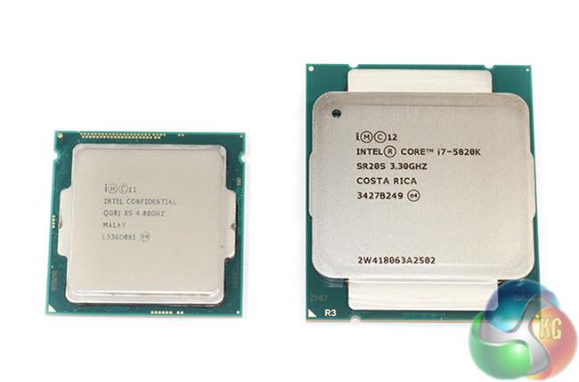 Intel 4790k and a 5820k 6 core processor