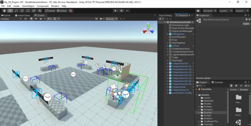 XR Interaction Toolkit - World Interaction Demo Scene