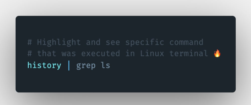 Cover image for How to highlight and see a specific command that was executed in the Linux terminal?