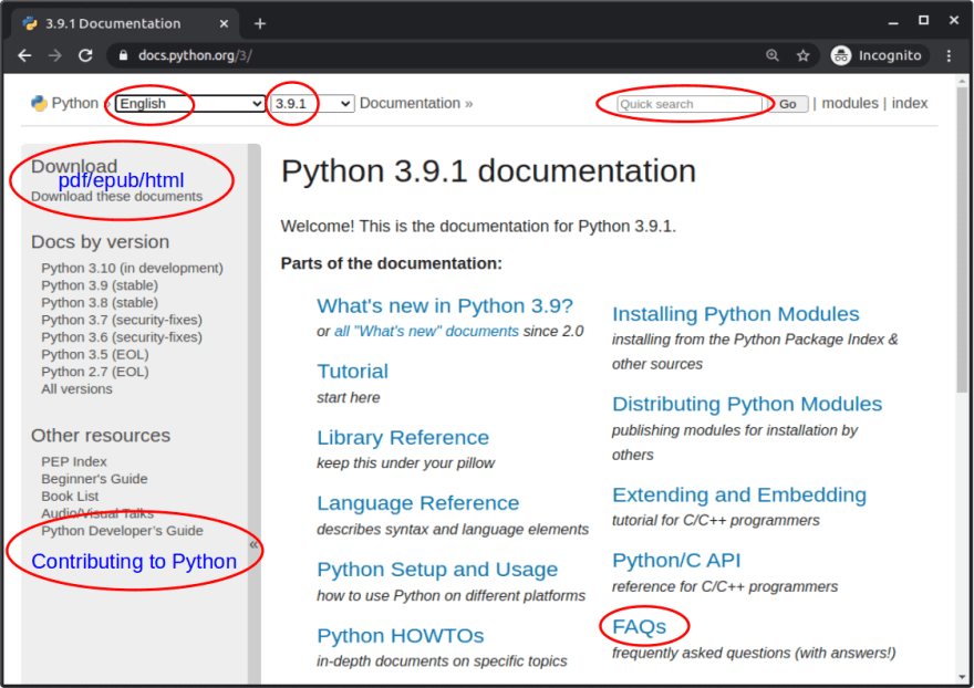Python documentation: part 1