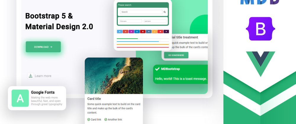 Cover image for Vue + Bootstrap 5 UI Kit