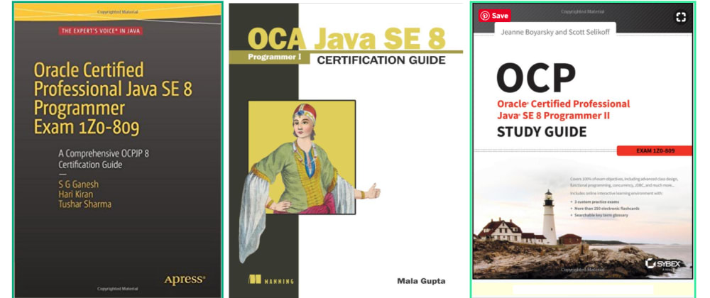 Cover image for 5 Books to Crack Java 8 Certification (OCAJP 8 and OCPJP 8) - Best of lot