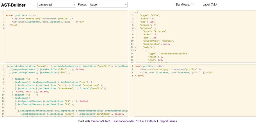 AST Builder Screenshot
