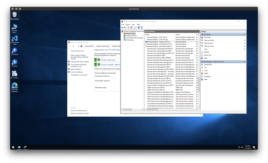 Access to remote desktop using SSH tunneling with Remote Desktop 10 on macOS