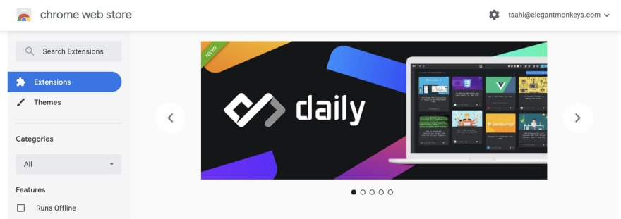 Daily Featured on Chrome Store