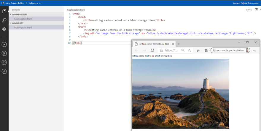 intial HTML page