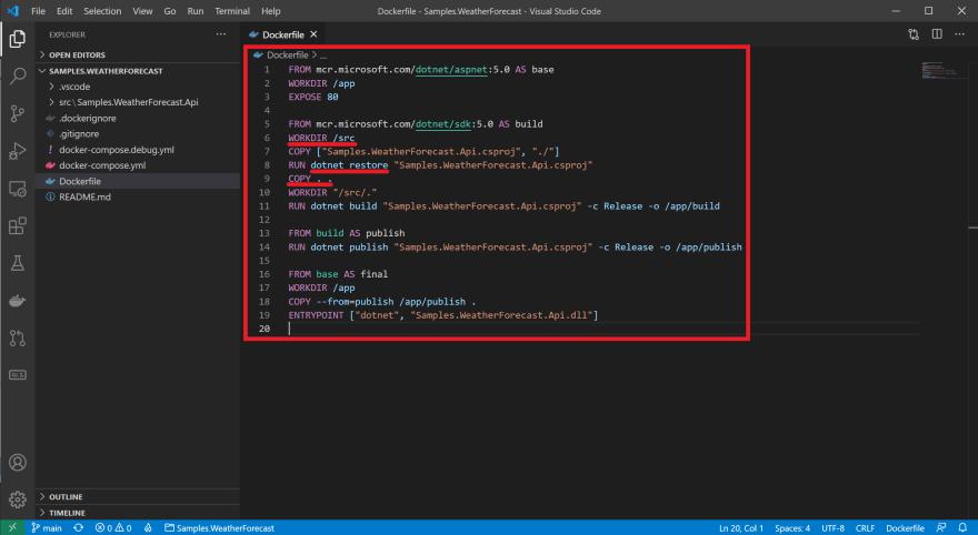 VS Code Dockerfile autogen