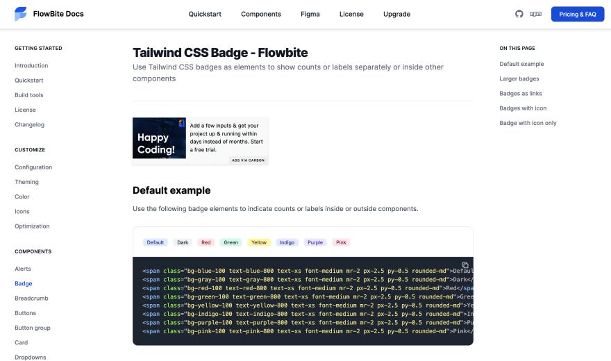 Tailwind CSS badge
