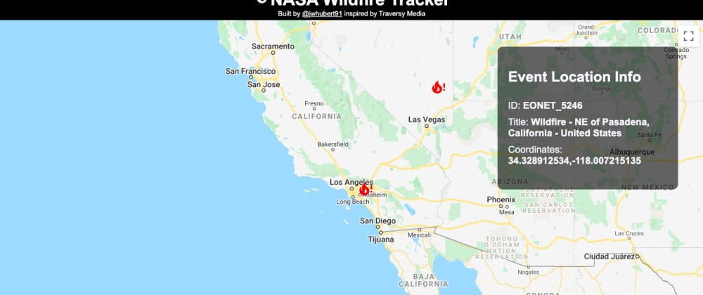 Cover image for Project 59 of 100 - React Wildfire Tracker