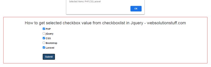 How To Get Selected Checkbox List Value In JQuery