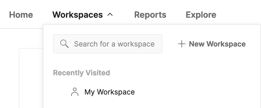 Select a workspace