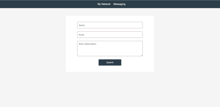 Styled login page