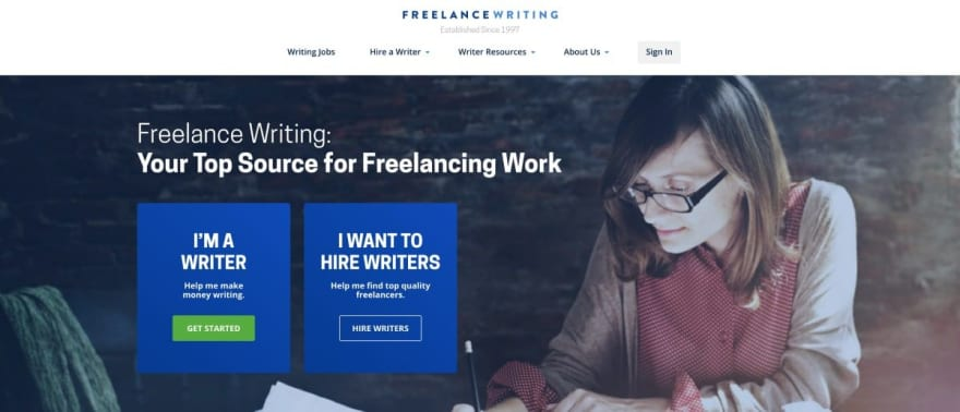 Freelance Writing website