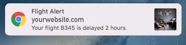 Creative push notification