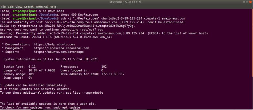 SSH into EC2