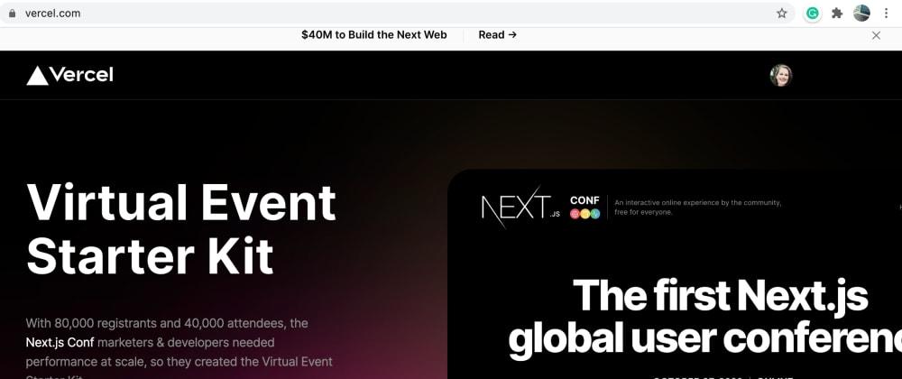 Cover image for Virtual Event Starter Kit – Vercel