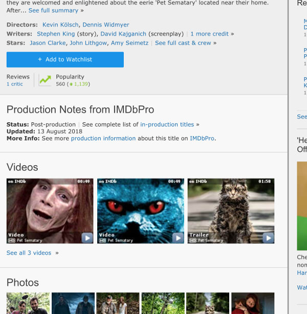 IMDB before