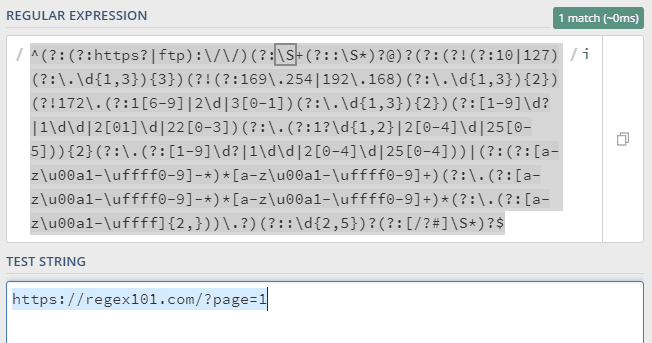 URL Matching exmaple