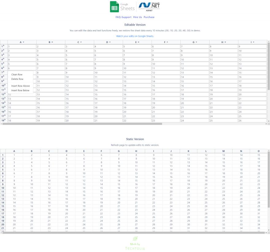 Google Sheets API in ASP.NET | C#