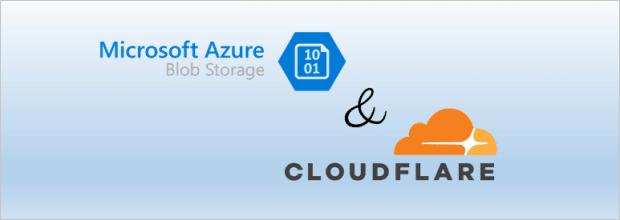 Logos of Microsoft Azure Blob Storage and Cloudflare