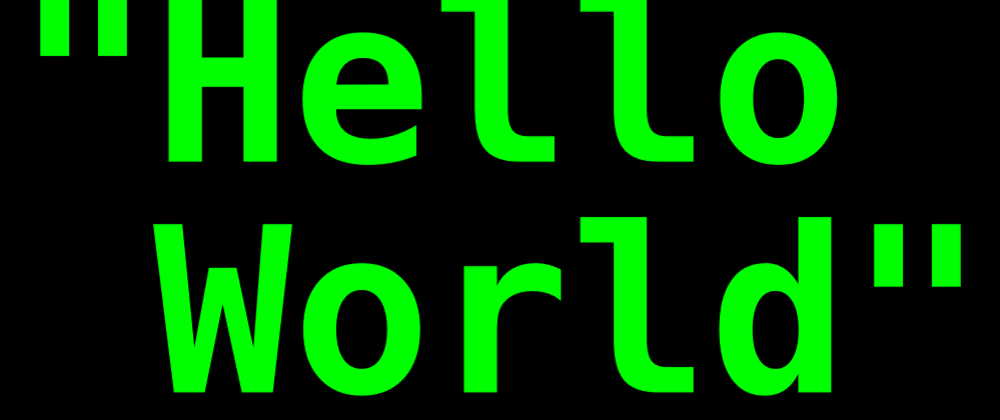 """Cover image for """"Hello World"""", chatbot version – Complete example"""