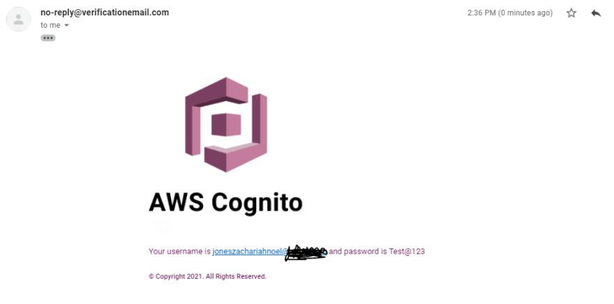 Invite email
