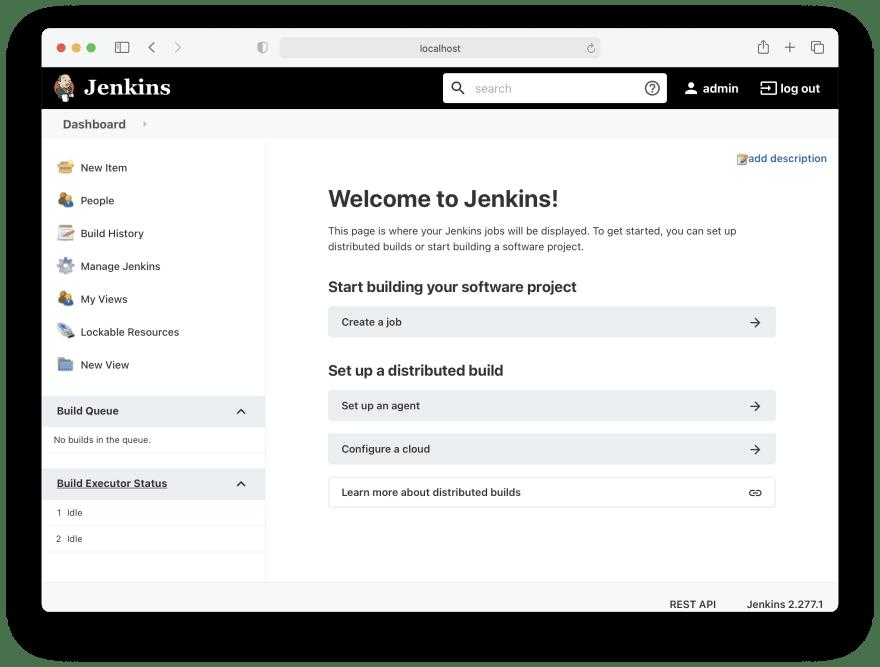Jenkins home page