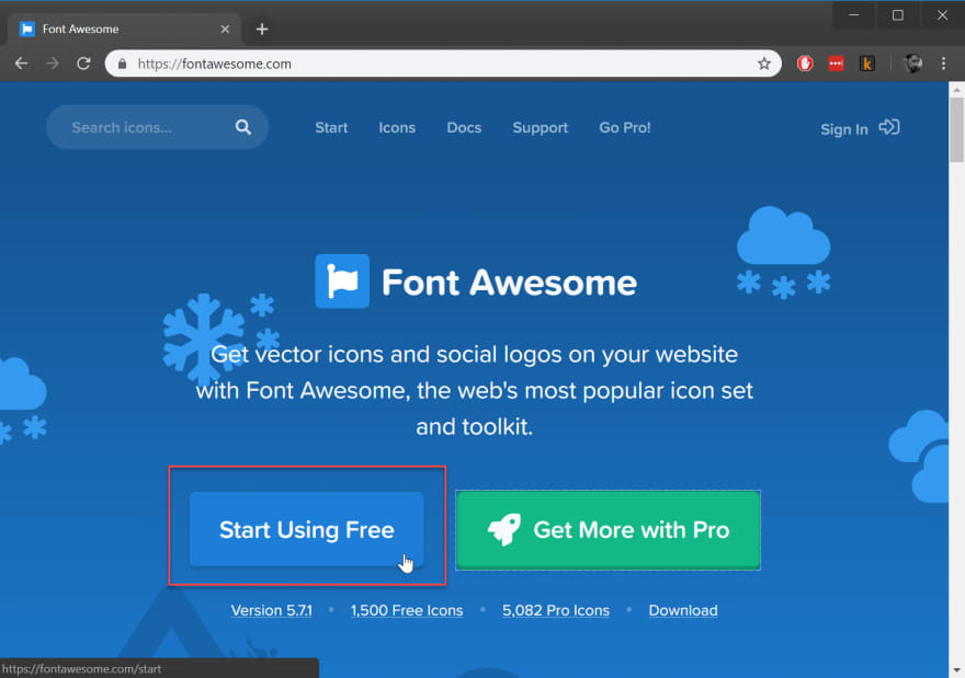 font awesome site