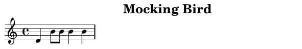 Mocking Bird Score