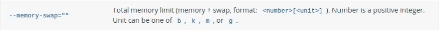 docker run --memory-swap