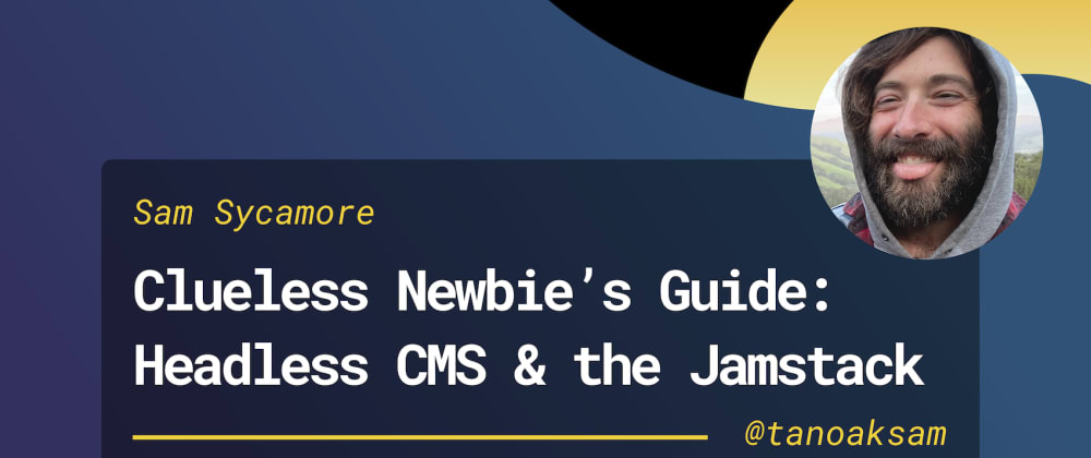 Cover image for A Clueless Newbie's Guide to Headless CMS & the Jamstack