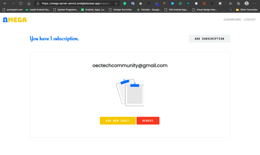 Subscriptions Page-With Subscription