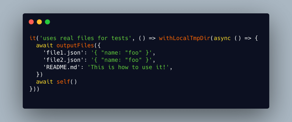Cover image for How to Write File-Based JavaScript Tests With Real Files