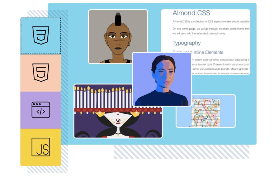 screenshot of alvaromontoro.com project widget (tab panel)