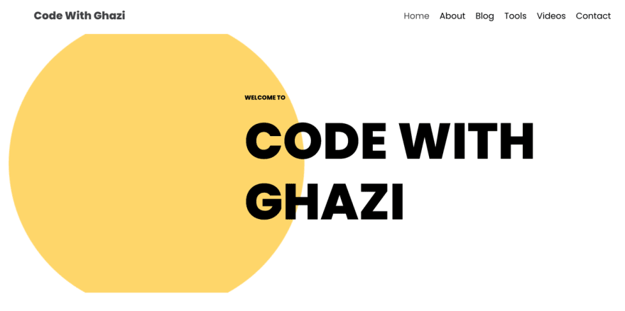 Code With Ghazi is a good example of simple, yet original design