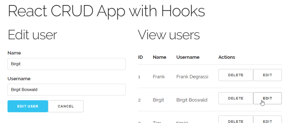 Cover image for Creating a CRUD app in React with Hooks