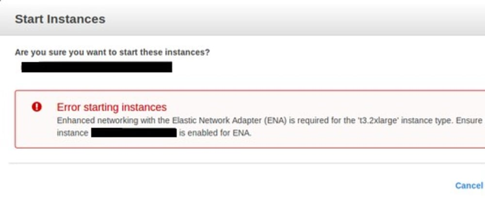 Cover image for Enabling ENA support on your AWS EC2