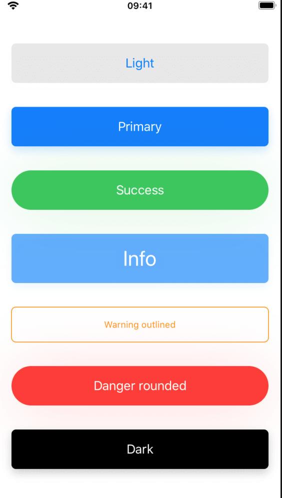 full width buttons