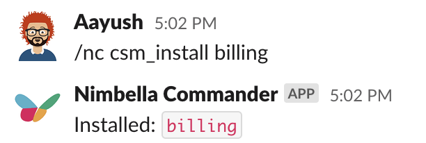 Nimbella Commander DigitalOcean billing commandset