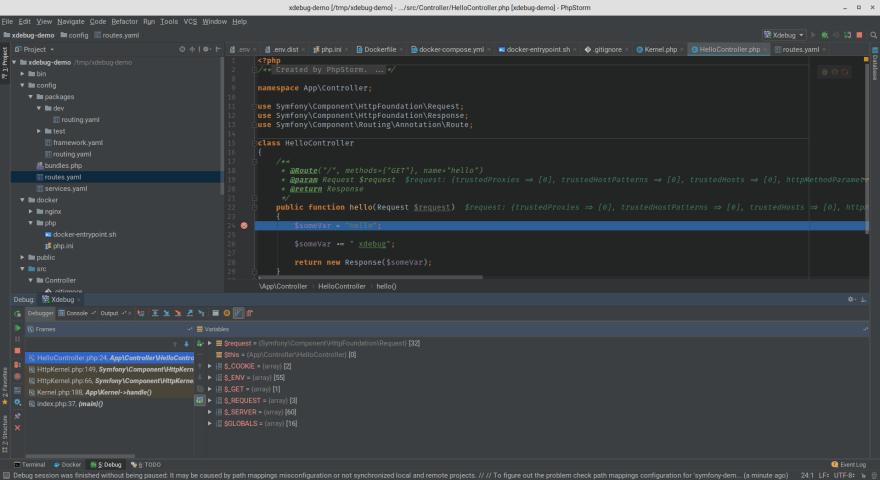 Docker, PHPStorm and Xdebug, The definitive guide - DEV Community