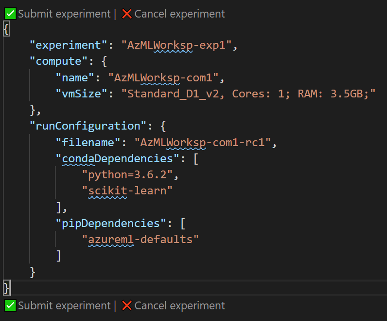 Workspace do Azure ML no VS Code