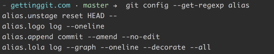 My current Git aliases