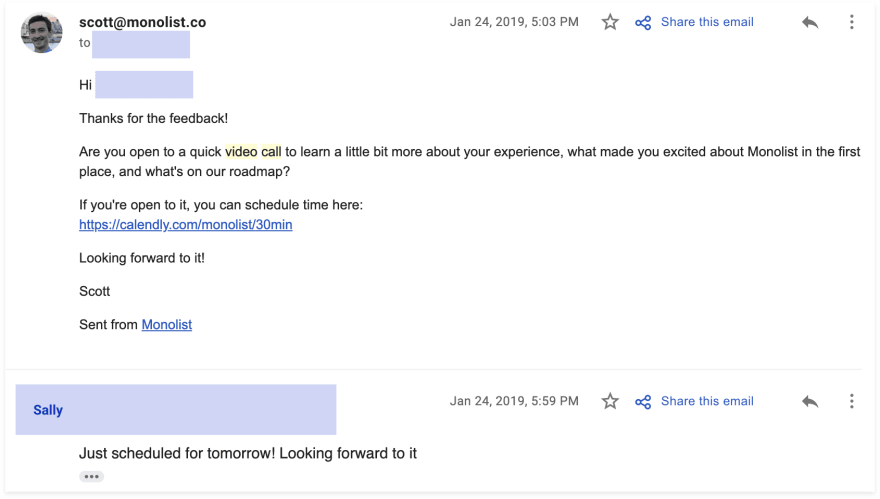 Second Email