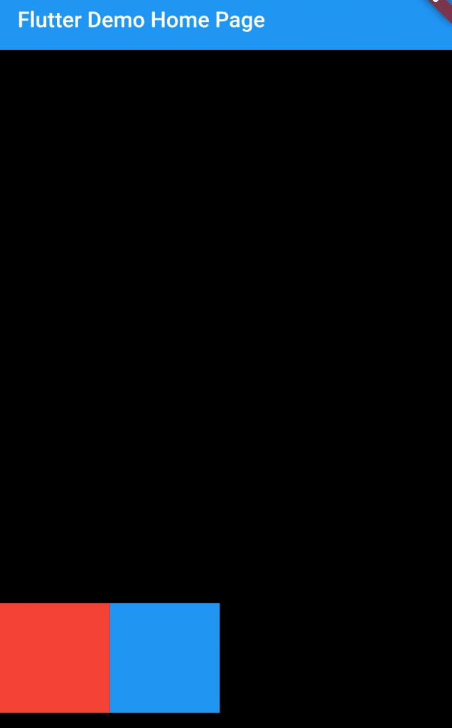 Cross Axis of Row widget