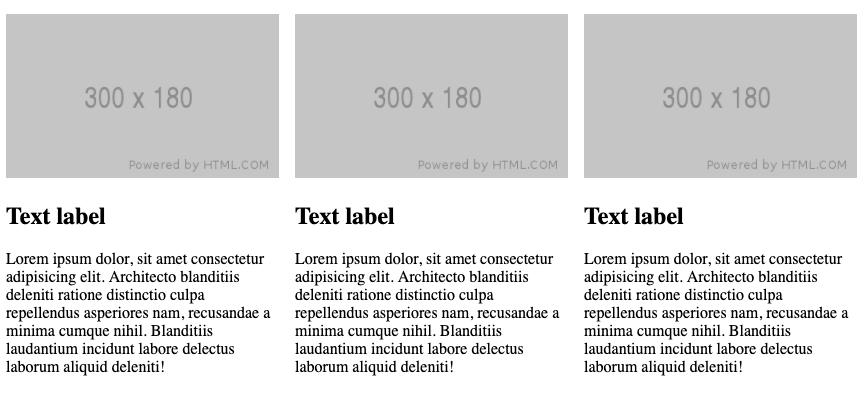 Layout using CSS columns