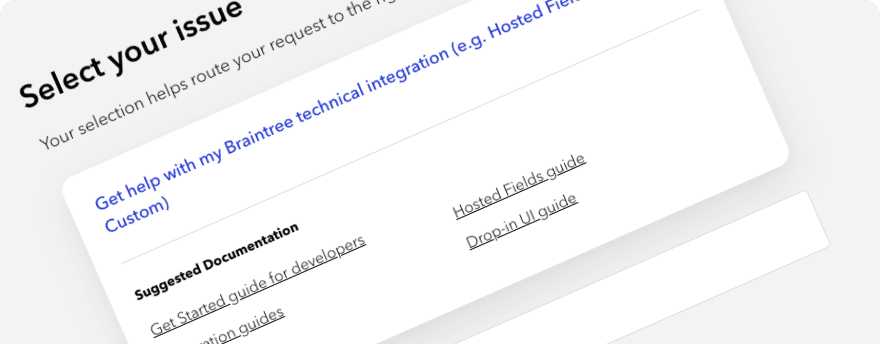 The help form suggested docs links