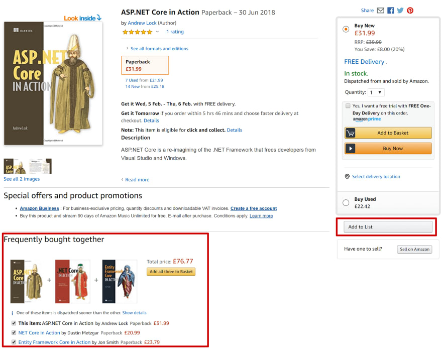 A product page from Amazon.co.uk